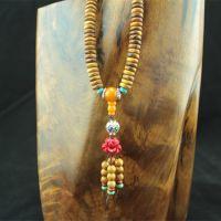 韵檀红精品黄金檀圆珠片珠民族风创意手链女款项链佛珠挂件