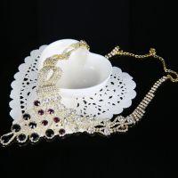 2015新款欧美潮流饰品时尚锁骨项链耳环女套装旅游纪念品热卖
