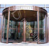 供应天津304不锈钢黄古铜酒店旋转门 不锈钢镀铜门销售价格 不锈钢镀铜厂家