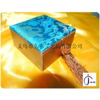 厂家生产 批发锦盒 包装盒 复古佛珠手链装饰盒 多种花纹精品礼盒