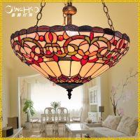 北欧宜家简约时尚灯具餐桌吊灯酒店吧台工程灯美式创意蒂凡尼吊灯