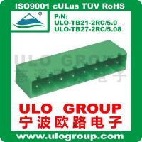 专业生产批发插拔式接线端子2DGRC-5.0-5.08 直针 绿色两侧封口 环保铜 阻燃 UL认证