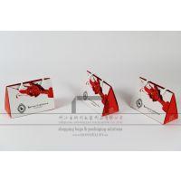 三角形纸袋设计,创意三角手提袋定做,生产化妆品包装袋,供应商指甲油礼品袋