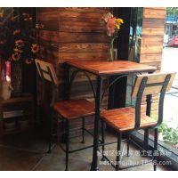美式复古铁艺餐饮餐桌椅组合餐厅桌椅咖啡桌椅餐饮酒吧桌餐椅餐桌