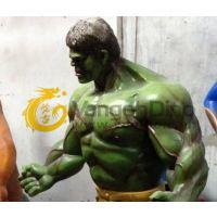 玻璃钢影视3D雕塑 绿巨人浩克电影人物雕塑 动漫电影特效道具