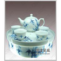 高档陶瓷茶具 手绘青花茶具 陶瓷功夫茶具 会议活动礼品陶瓷茶具
