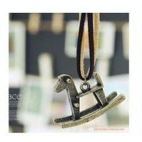 复古皮绳童真古铜木马项链 韩国饰品网站批发 A3017 A3019