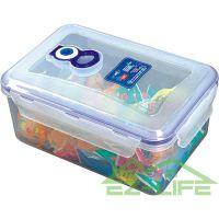 大号 真空抽气 透明塑料密封保鲜盒 微波炉PP饭盒 长方形保鲜盒