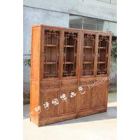 实木家具 明清仿古 连体书柜 置物柜 柜子 书架