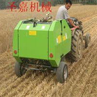 高效率麦草打包机规格 圣嘉高密度捆草机操作视频