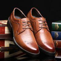 2015新款皮鞋温州男鞋英伦布洛克复古男鞋休闲男皮鞋韩版时尚潮鞋