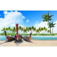 一头尖高档欧式木船 7米泰国象鼻木船 海滩欧式观光船 苏兴制造