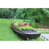 5m公园景观装饰船 仿古做旧木船 户外摆设木船 款式可来样订做