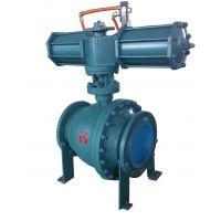 PQG气动固定式球阀大口径碳钢球阀价格15053369856