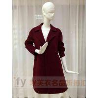 北京品牌折扣女装歌萱蒂琪双面羊绒大衣轻薄保暖一手货源