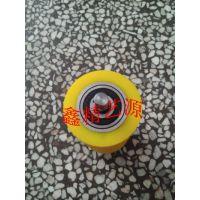 规格颜色按图纸加工/聚氨酯胶轮 PU辊轮 轴承辊传送辊丁青胶轮 硅胶辊