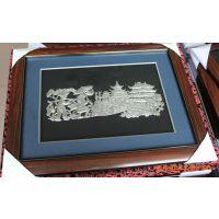 礼品工艺品 民间工艺品 苗族银画满载而归 饰品 室内装饰