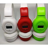厂家直销BS862头戴式运动无线插卡耳机MP3,带FM收音耳挂批发MP3
