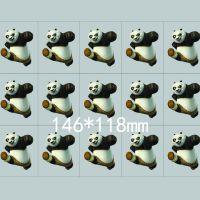 广州热转印烫画厂家 卡通功夫熊猫烫画图案 Kung fu panda阿宝烫画