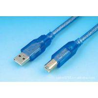 深圳 创伟 USB2.0透明蓝打印线 带单磁环 【创伟高品质 】(图)