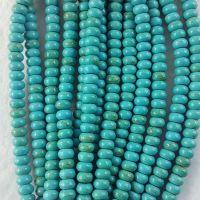 片珠绿松石批发 隔片珠 桶珠 成串条 一条约80片通货走