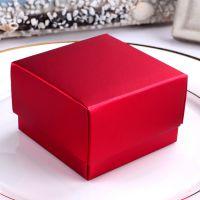 铝箔亮红色折叠纸盒/创意手工结婚喜糖盒/个性diy定制婚礼糖果盒
