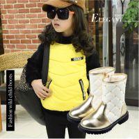 潮款2014秋冬新品女童真皮铆钉骑士靴韩版儿童单靴马丁靴一件代发