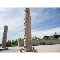 供应 石雕柱子 低价 批发 青石 景区 文化柱
