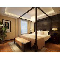 【龙发装饰】北京怡园109平米新中式三居装修设计效果图