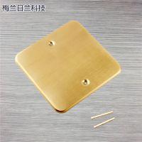 梅兰日兰地插 全铜防水盖板 100*100底盒盖子 普通弹起式地插盖板 送螺丝
