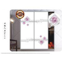 新品艺术玻璃超白衣柜推拉门魔幻5D彩绘玻璃可加工生产