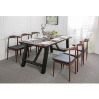 铁画专业定制LOFT 美式复古实木餐桌椅咖啡桌电脑桌铁艺餐桌书桌会议桌办公桌