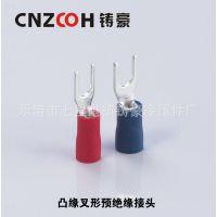 【厂家直销】叉形预绝缘端头 Y型冷压接线端子SV1.25-4S U形端子