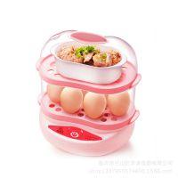 品牌优质特供赠品礼品 多功能双层煮蛋器 家用蒸煮蛋器 大容量