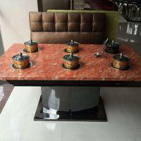 质量保证 大理石餐桌 西餐厅/奶茶店餐桌 高档火锅店餐桌 款式定做