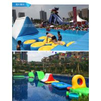 亚图久泰水池超大型儿童游泳池充气泳池水上乐园游乐设备滑梯组合
