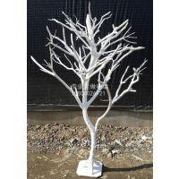 供应装饰白树干树枝橱窗摆放婚庆 白树杆造型树干树枝枯树枝