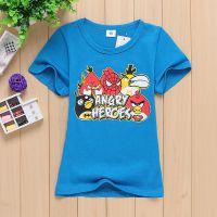 2015新款外贸夏装中小童T恤 卡通快乐小鸟男童夏款衫 童装T恤 厂