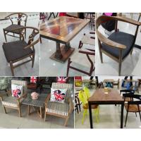 美式乡村北欧咖啡厅茶餐厅桌椅、实木家具原木复古铁艺餐桌餐椅、卡座沙发订做-实木美式-北京吉瑞斯家具厂