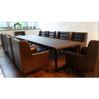 工厂直销上海西餐厅长桌 西餐厅复古实木长桌定制 上海韩尔家具厂