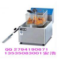 杰冠 DF-6L 单缸单筛电炸炉 商用电炸锅 炸薯条机