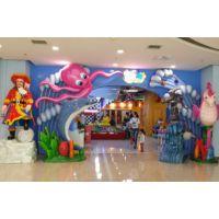 娱乐场所玻璃钢拱门制作 儿童乐园玻璃钢雕塑装饰拱形门