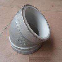 45°衬塑沟槽弯头 君昊碳钢给水饮用水防腐蚀衬塑管件 卡箍涂塑管件价格