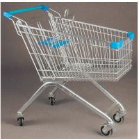 济南德嘉现货批发超市购物车手推车 80-100升带凳购物车载重轮