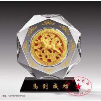 合金水晶摆件定制 高档留念多面水晶奖杯 纯银奖杯定做 多种规格可定做