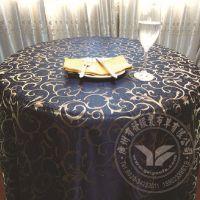 2015年工厂生产  蓝色淡雅桌布勾花涤纶台布 欧式酒店餐厅桌布