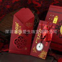 纯银吊坠999千足银红包压岁钱可佩戴 羊年银币春节送小孩实用礼物