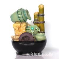 装饰品 流水喷泉 流水工艺品 竹子工艺品 精致礼品 桌面摆饰品