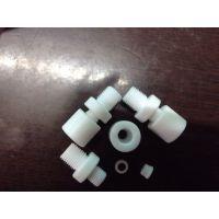供应PTFE外牙直接/铁氟龙卡套外牙接头/聚四氟乙烯卡套接头