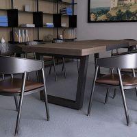 新品推荐 海德利榆木原实木餐桌椅组合 复古商用餐桌 铁艺桌子